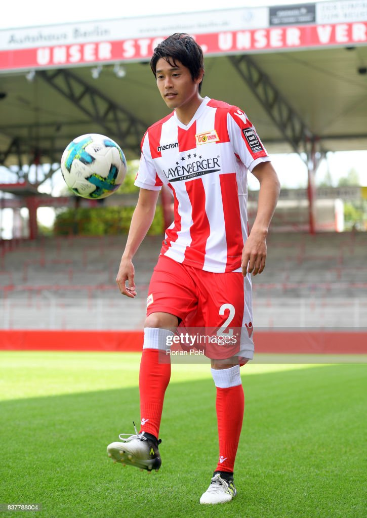 Atsuto Uchida of 1.FC Union Berlin juggles during the presentation on august 23, 2017 in Berlin, Germany.