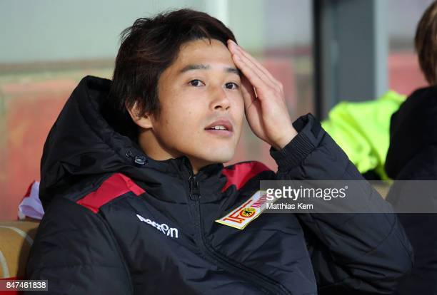 Atsuto Uchida of Berlin looks on prior to the Second Bundesliga match between 1 FC Union Berlin and Eintracht Braunschweig at Stadion An der Alten...