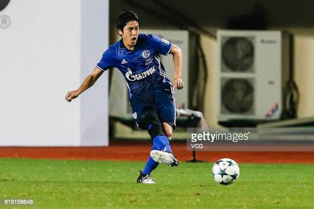Atsuto Uchida of FC Schalke 04 in action during the 2017 International soccer match between Schalke 04 and Besiktas at Zhuhai Sports Centre Stadium...