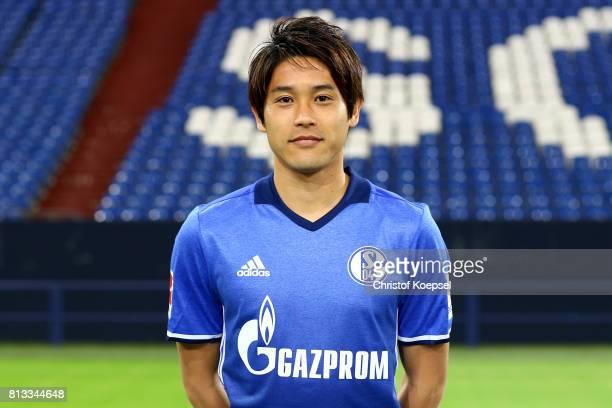 Atsuto Uchida of FC Schalke 04 poses during the team presentation at Veltins Arena on July 12 2017 in Gelsenkirchen Germany