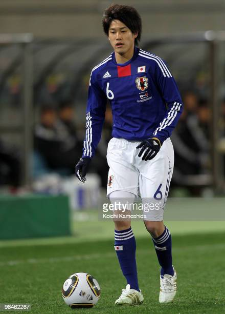 Atsuto Uchida of Japan in action during the East Asian Football Championship 2010 match between Japan and China at Ajinomoto Stadium on February 6...