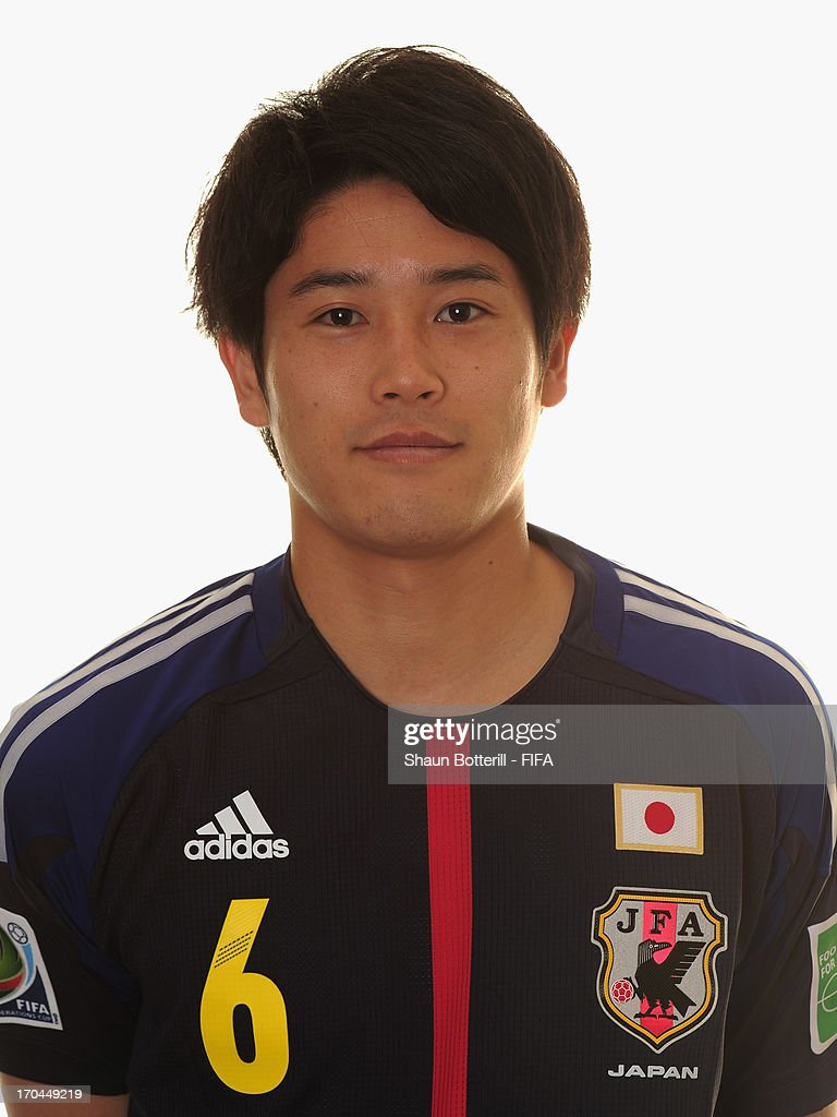 <a gi-track='captionPersonalityLinkClicked' href=/galleries/search?phrase=Atsuto+Uchida&family=editorial&specificpeople=4318608 ng-click='$event.stopPropagation()'>Atsuto Uchida</a> of Japan poses for a portrait at the Kubistchek Plaza Hotel on June 13, 2013 in Brasilia, Brazil.