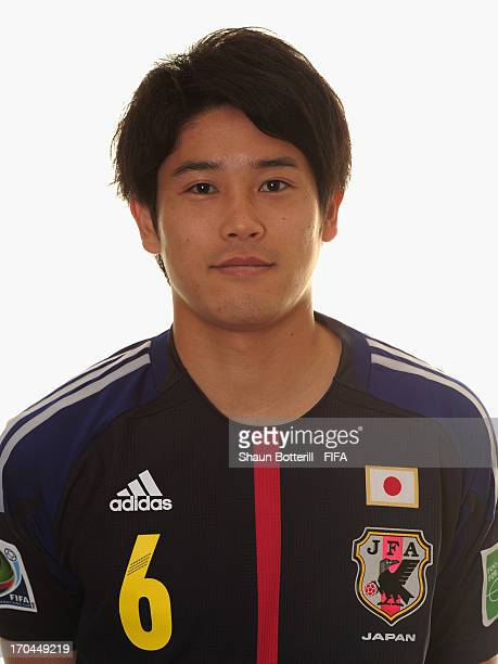 Atsuto Uchida of Japan poses for a portrait at the Kubistchek Plaza Hotel on June 13 2013 in Brasilia Brazil
