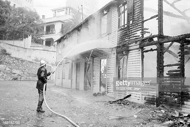 Attack At The Faculty Of Sciences Of Algiers Alger 8 juin 1962 Un incendie détruisant la faculté de science suite à un attentat un pompier tenant une...
