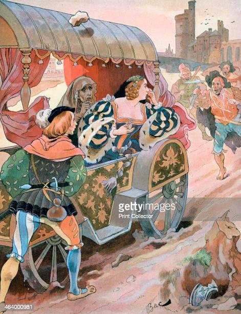 'Attack on a carriage Quai de Nesles Reign of Francis I 16th century' c18701950