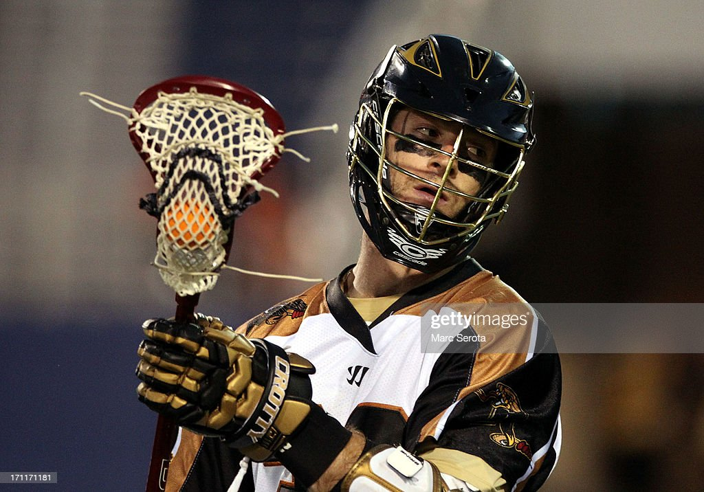 Attacker Ned Croty #22 of the Rochester Rattlers plays against the Hamilton Nationals during the fourth quarter at FAU Stadium on June 22, 2013 in Boca Raton, Florida. The Nationals defeated the Rattlers 17-11.