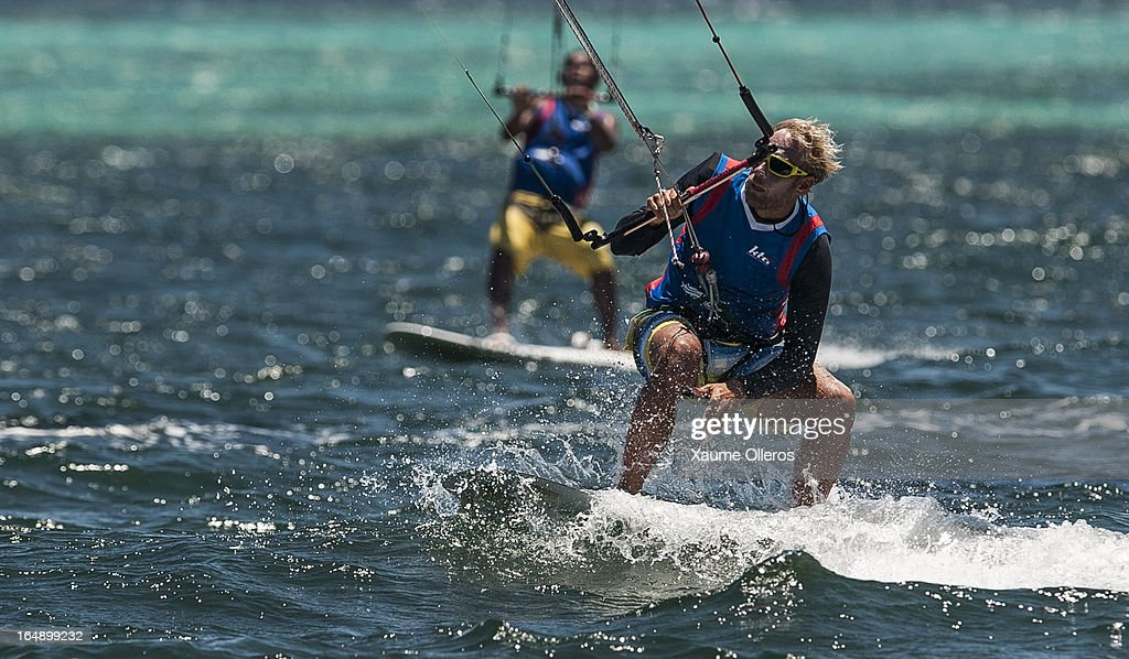 Atte Kappel of Sweden competes in Race board racing during day four of the KTA at Boracay Island on March 29, 2013 in Makati, Philippines.