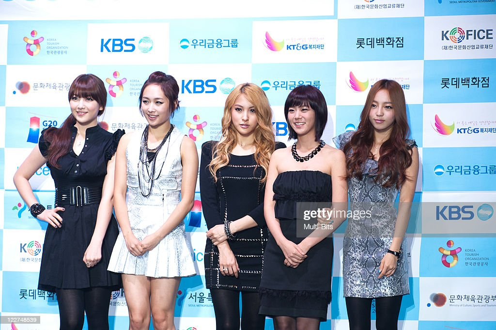 KARA attend 2010 Asia Song Festival Press Conference at Sheraton Grande Walkerhill Hotel on October 22, 2010 in Seoul, South Korea.