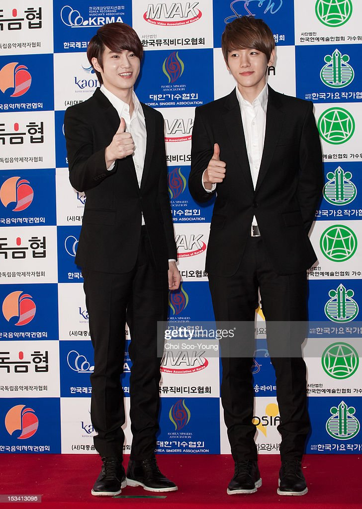 K attend 'Popular music Promotion Committee' Launch on September 12, 2012 in Seoul, South Korea.