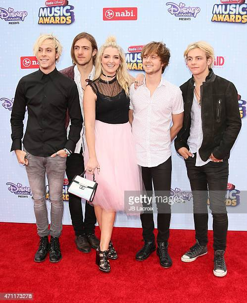 R5 attend the 2015 Radio Disney Music Awards at Nokia Theatre LA Live on April 25 2015 in Los Angeles California