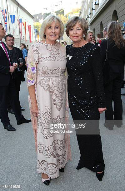 Inge Wrede Lanz Ulrike Schmalisch attend the opening of the easter festival 2014 on April 12 2014 in Salzburg Austria