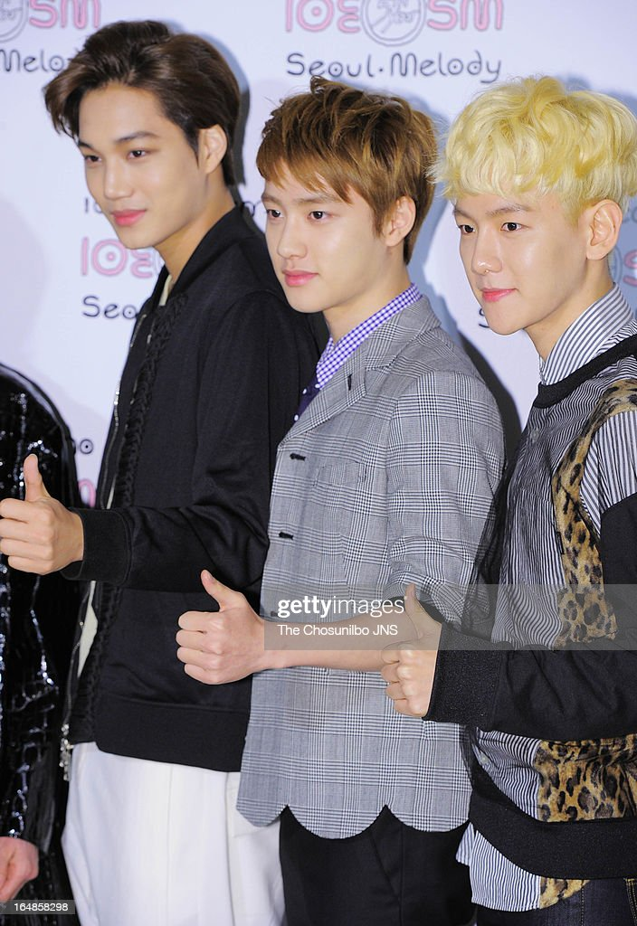 K attend the SM '10 Corso Como Seoul Melody' Launch Party on March 28, 2013 in Seoul, South Korea.