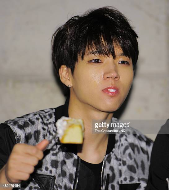 INFINITE attend the SMG 'Han Yu Xing Dong Tai' at Mapogu on July 29 2015 in Seoul South Korea