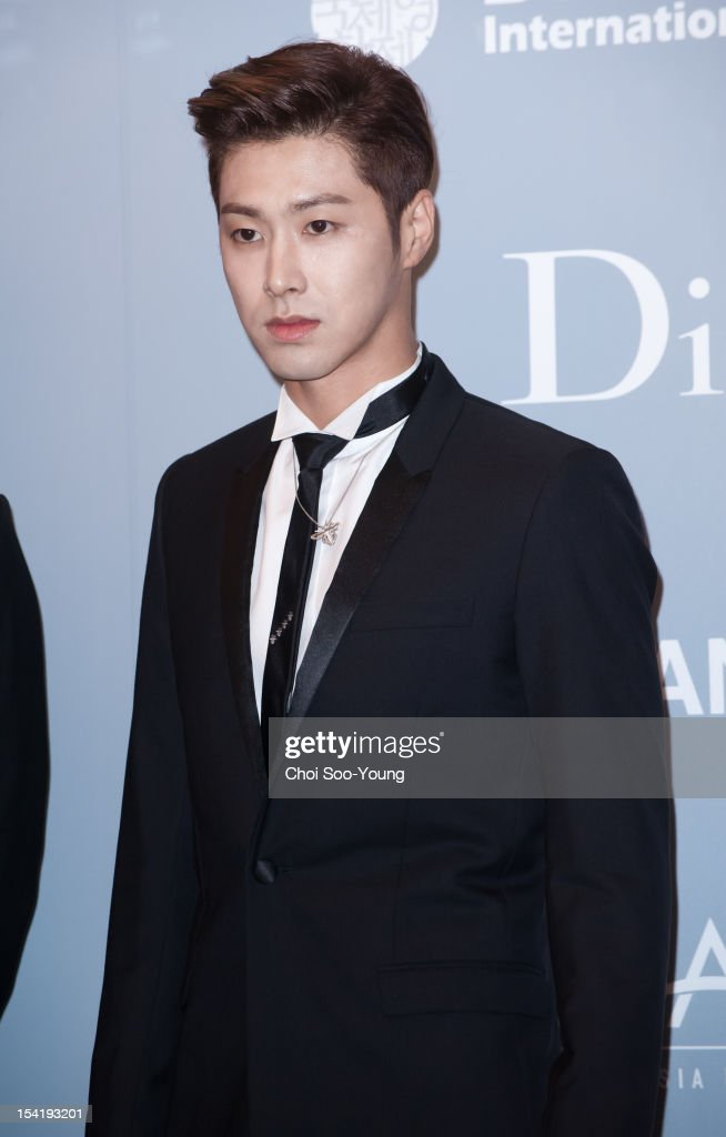 <a gi-track='captionPersonalityLinkClicked' href=/galleries/search?phrase=TVXQ&family=editorial&specificpeople=4304740 ng-click='$event.stopPropagation()'>TVXQ</a> attend the 'United Asian Film Night with Christian Dior' in conjunction with the Busan International Film Festival(BIFF) at the Westin Chosun Hotel on October 8, 2012 in Busan, South Korea.