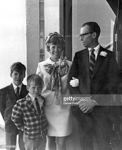 Attend Wedding At Church Of The Risen Christ Mr and Mrs Harry Buchenau and their sons left Michael and Matthew leave the Church of the Risen Christ...