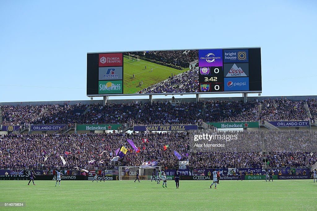 Attendance was over sixty thousand for the opening MLS soccer match between Real Salt Lake and the Orlando City SC at the Orlando Citrus Bowl on March 6, 2016 in Orlando, Florida. The game ended in a 2-2 draw.