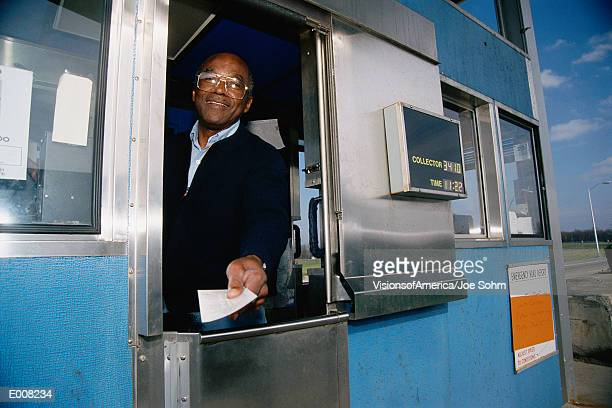 Attendant at toll booth