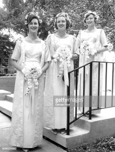 Attendants Precede Bride At HughesWischhusen Wedding Among attendants at Saturday wedding of Miss Frances Elizabeth Hughes and Theodore Peter...