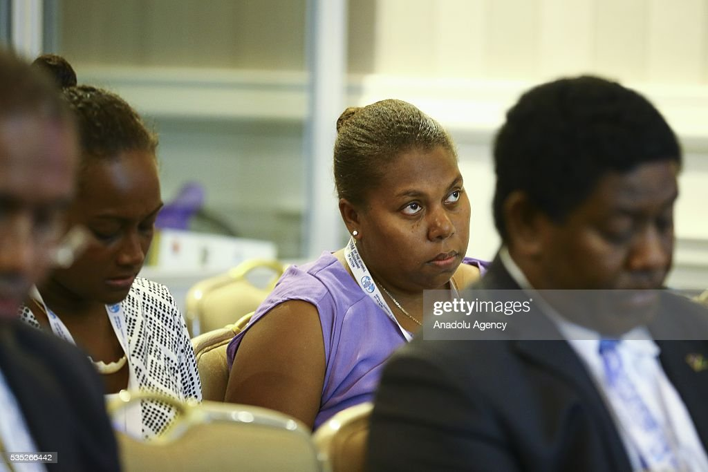 Attendees are seen during the 'Climate Change in the Least Developed Countries' session as part of the Istanbul Programme of Action for the Least Developed Countries in Antalya, Turkey on May 29, 2016.