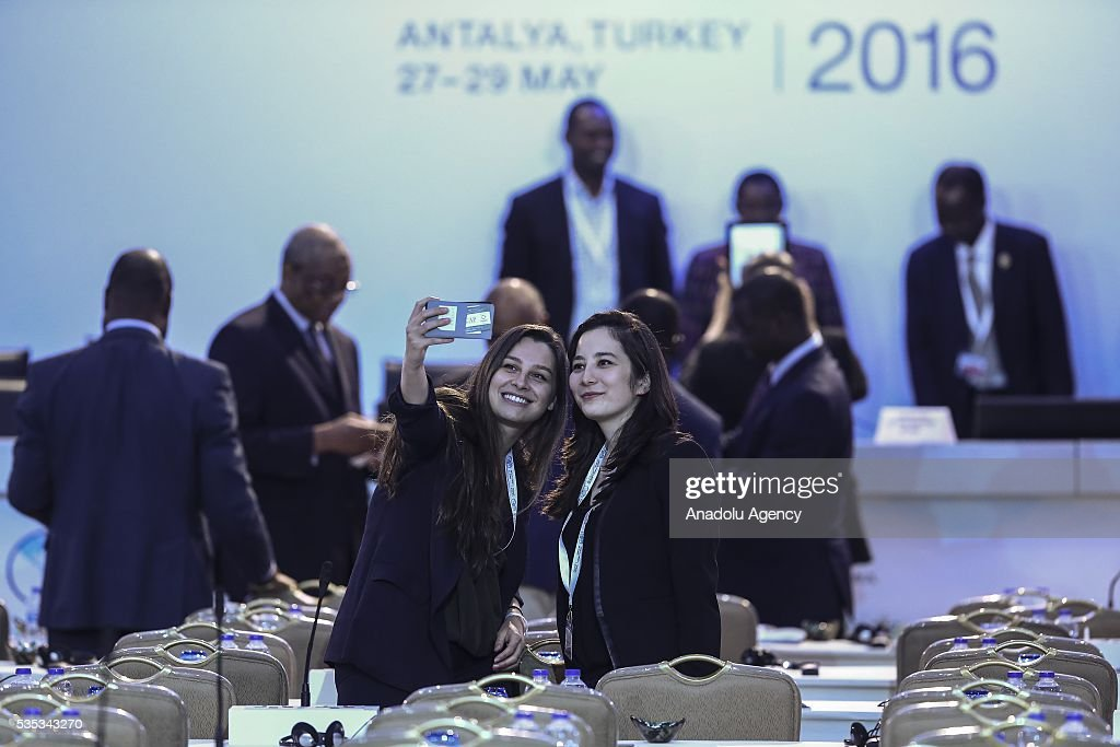 Attendees are seen during the last session of the Midterm Review of the Istanbul Programme of Action for the Least Developed Countries in Antalya, Turkey on May 29, 2016.