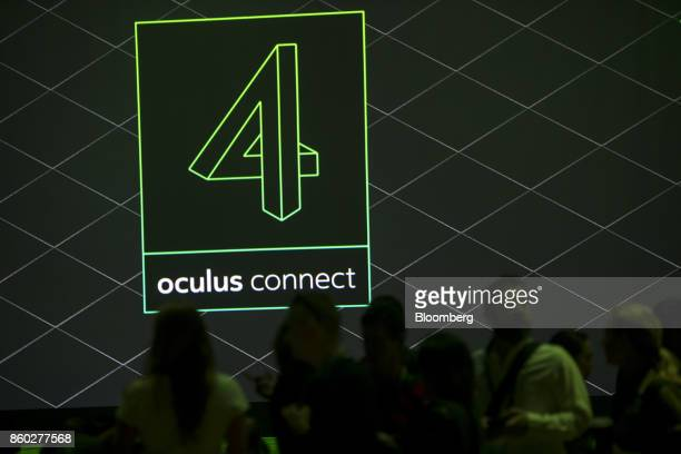 Attendees arrive for a presentation during the Oculus Connect 4 product launch event in San Jose California US on Wednesday Oct 11 2017 Facebook...