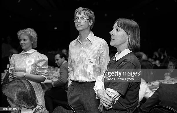 Attendees at the annual PC Forum Phoenix Arizona February 58 1984 Among those pictured are standing from left Michele Preston from LF Rothschild...