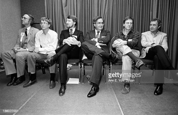 Attendees at the annual PC Forum's Pioneers and Neophytes Dinner Phoenix Arizona February 58 1984 Pictured are from left Daniel Fylstra from...