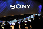 Attendees gather at the Sony booth during the 2015 International CES at the Las Vegas Convention Center on January 6 2015 in Las Vegas Nevada CES the...