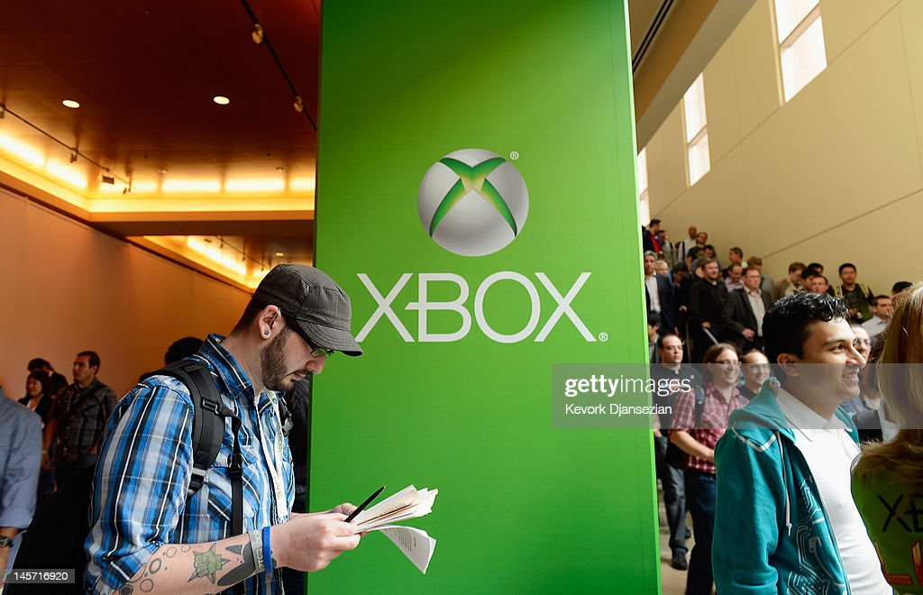 Attendees leave the Microsoft Xbox press conference at the Electronic Entertainment Expo at the Galen Center on June 4, 2012 in Los Angeles, California. Thousands are expected to attend the annual three-day convention to see the latest games and announcements from the gaming industry.