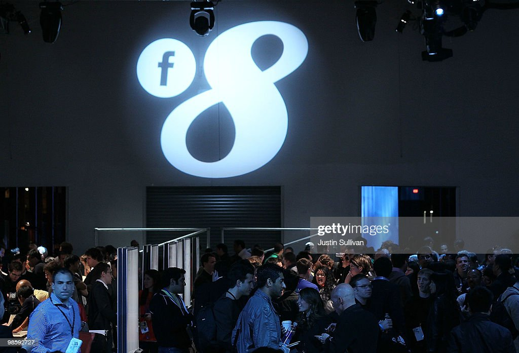 Attendees mingle at the Facebook f8 Developers Conference April 21 2010 in San Francisco California Facebook founder and CEO Mark Zuckerberg kicked...