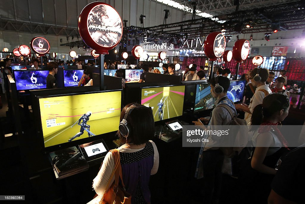Attendees play games on Sony Computer Entertainment Inc.'s PlayStation 3 (PS3) video game consoles during the Tokyo Game Show 2012 at Makuhari Messe on September 20, 2012 in Chiba, Japan. The annual video game expo, which is held from September 20 to 23, attracts thousands of business visitors and the general public with exhibitions of the upcoming game software and latest hardware.