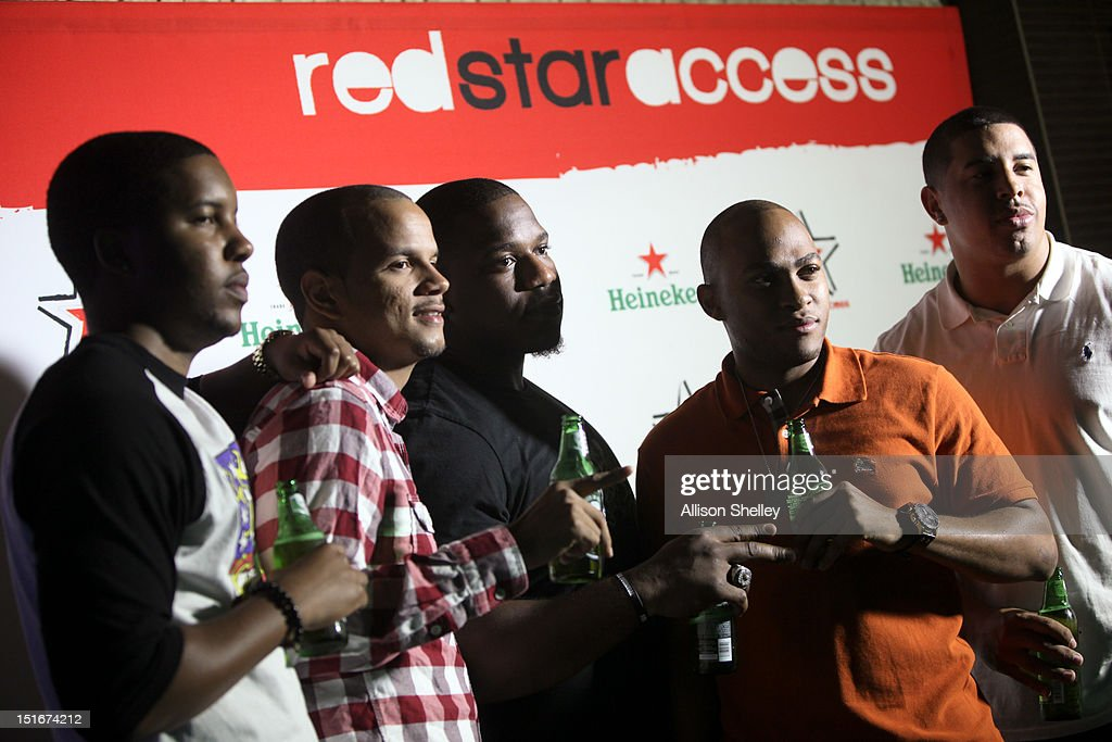 Attendees pose for photos at Heineken Red Star Access D.C. featuring B.o.B. and DJ Ruckus on September 8, 2012 in Washington, D.C.