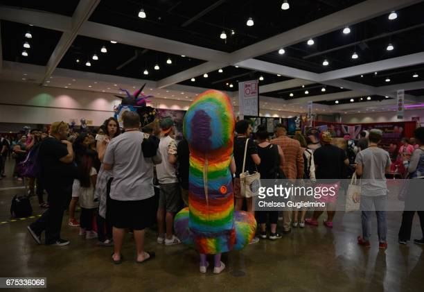 Attendees seen during the 3rd Annual RuPaul's DragCon day 2 at Los Angeles Convention Center on April 30 2017 in Los Angeles California