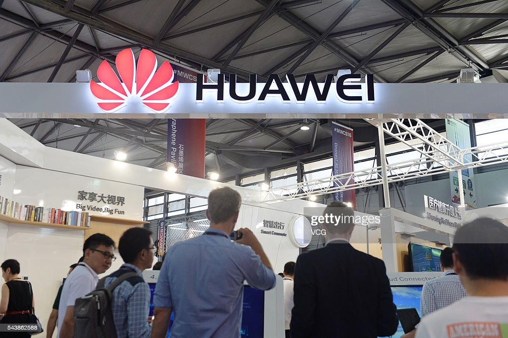 Attendees visit Huawei booth during the Mobile World Congress Shanghai at Shanghai New International Expo Centre on June 30, 2016 in Shanghai, China. The Mobile World Congress Shanghai 2016 opens from June 29 to July 1.