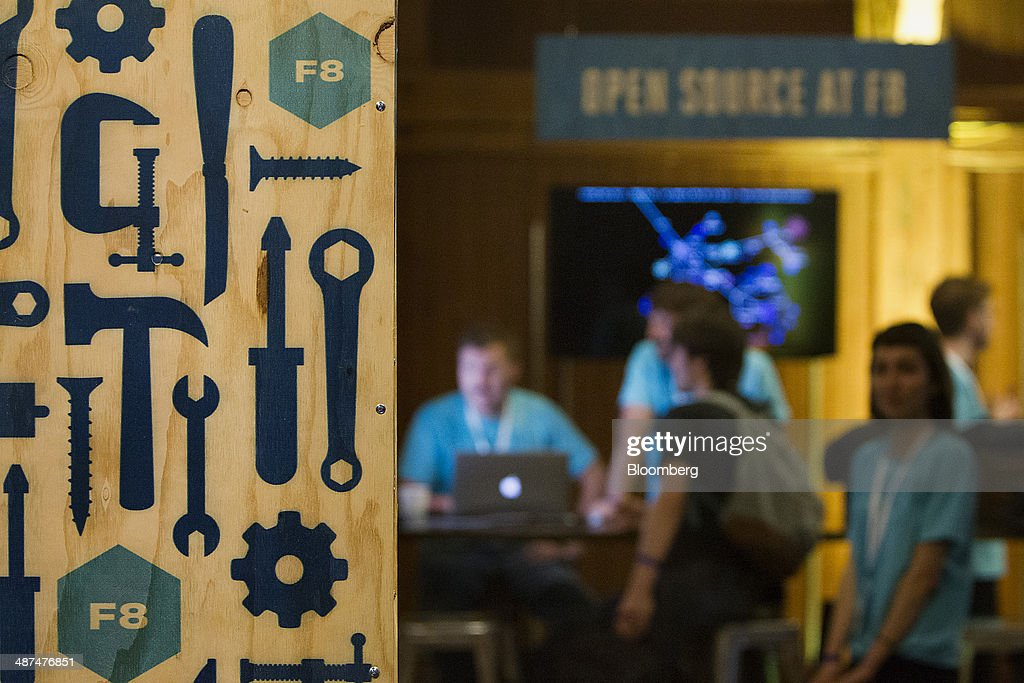 Attendees wait for the Facebook F8 Developers Conference to begin in San Francisco, California, U.S., on Wednesday, April 30, 2014. Facebook Inc. will offer software developers improved tools to create programs that run on any smartphone and a more streamlined experience for people to log into apps, including the option to sign in anonymously. Photographer: Erin Lubin/Bloomberg via Getty Images