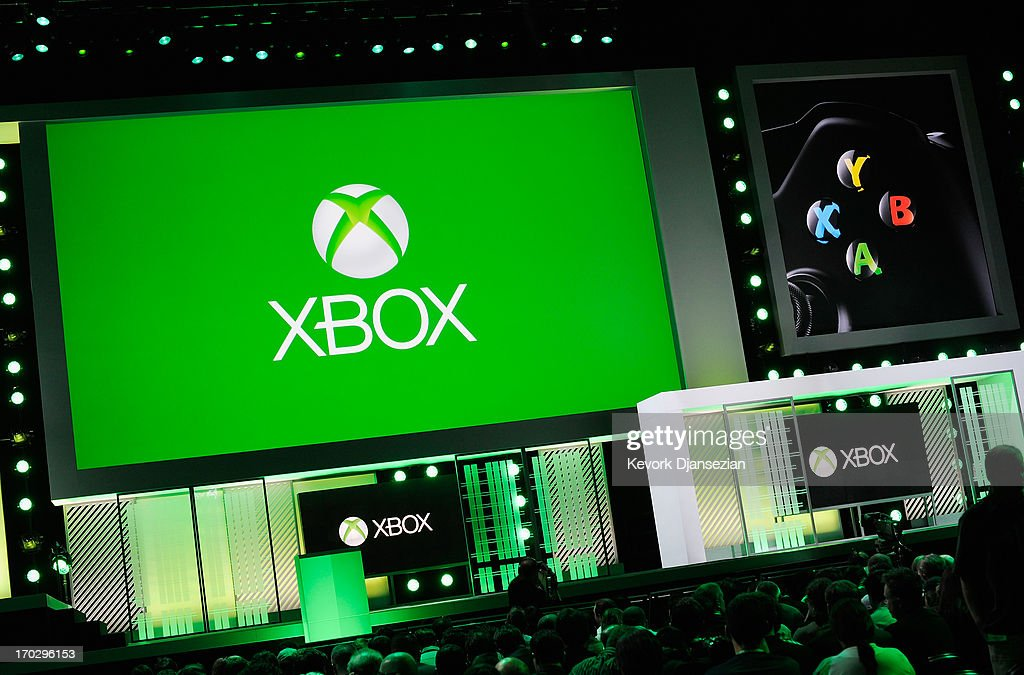 Attendees wait for the start of the Microsoft Xbox news conference at the Electronic Entertainment Expo at the Galen Center on June 10, 2013 in Los Angeles, California. Thousands are expected to attend the annual three-day convention to see the latest games and announcements from the gaming industry.