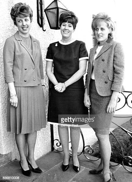 Attending a Provisionals gathering in the home of Mrs Thomas Page Owen are from left Mrs John G Wilkinson Miss Kathleen Knous and Miss Deborah Writer...