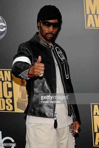 RZA attends 2008 American Music Awards at Nokia Theatre on November 23 2008 in Los Angeles CA