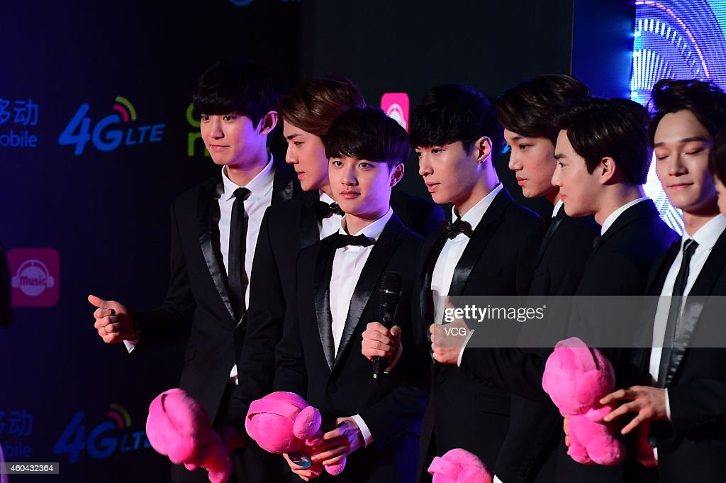 <a gi-track='captionPersonalityLinkClicked' href=/galleries/search?phrase=EXO+-+Band&family=editorial&specificpeople=9756418 ng-click='$event.stopPropagation()'>EXO</a> attends 2014 Wireless Music Awards on December 13, 2014 in Shenzhen, Guangdong province of China.