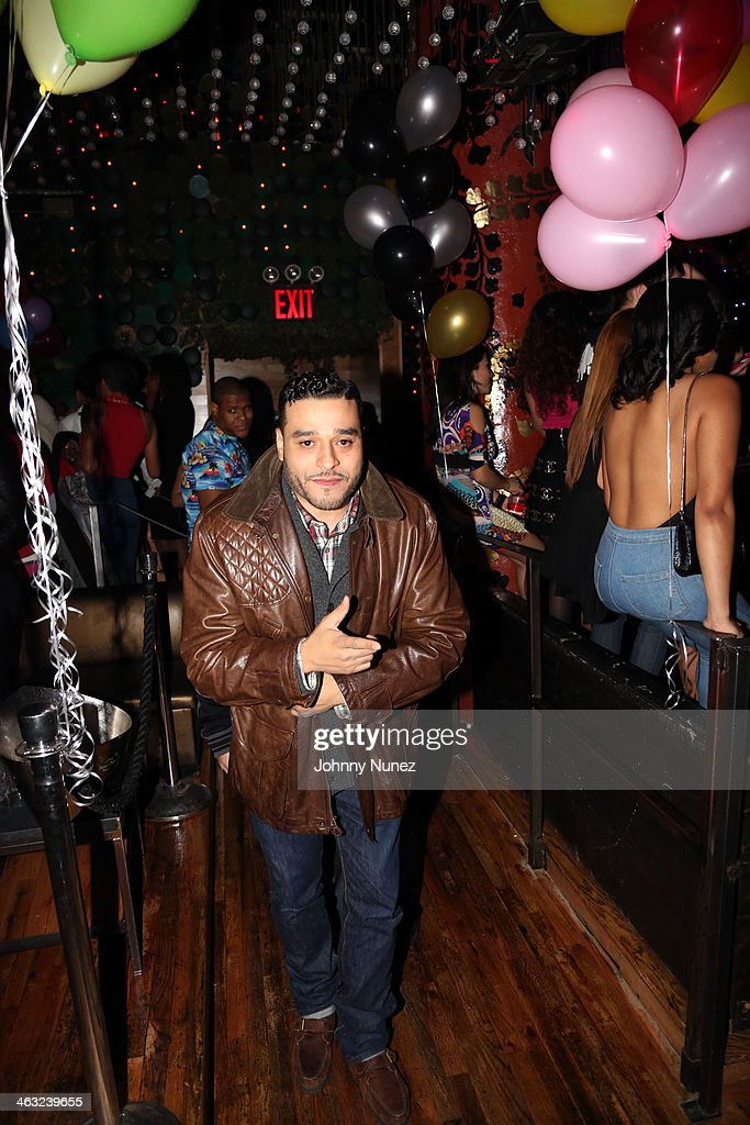 A.L. attends a birthday celebration for Barry Mullineaux and DJ Clue at Greenhouse on January 16, 2014, in New York City.
