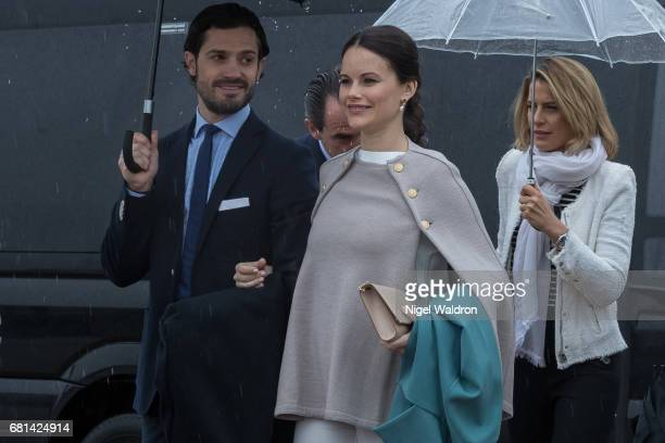 Prince Carl Philip of Sweden Princess Sofia of Sweden attend a lunch on the Royal yacht Norge on the occasion of the celebration of King Harald and...