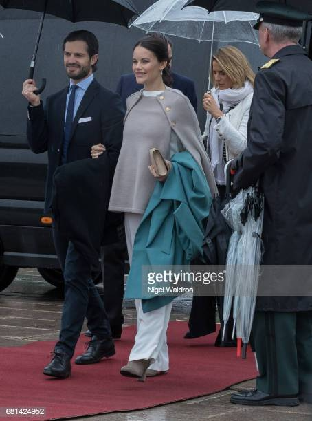 Princess Martha Louise of Norway Prince Carl Philip of Sweden and Princess Sofia of Sweden attend a lunch on the Royal yacht Norge on the occasion of...