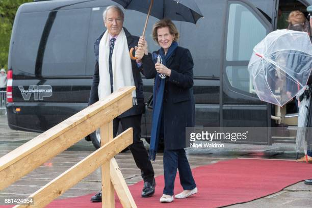 Bernhard Mach Countess madeleine bernadotte kogevinas of Sweden attend a lunch on the Royal yacht Norge on the occasion of the celebration of King...