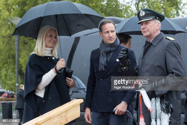 Crown Princess Mette Marit of Norway Crown Prince Haakon of Norway attend a lunch on the Royal yacht Norge on the occasion of the celebration of King...