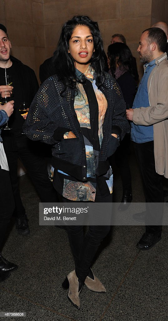 MIA attends a private view of 'Nick Waplington/Alexander McQueen: Working Progress' at the Tate Britain on March 23, 2015 in London, England.