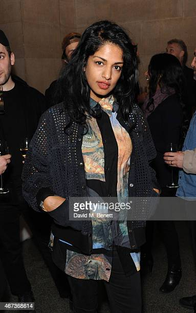 MIA attends a private view of 'Nick Waplington/Alexander McQueen Working Progress' at the Tate Britain on March 23 2015 in London England