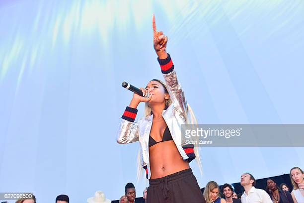 ABRA attends Artsy and SoundCloud Present Collective Reality at The Faena Art Dome on November 30 2016 in Miami Beach Florida