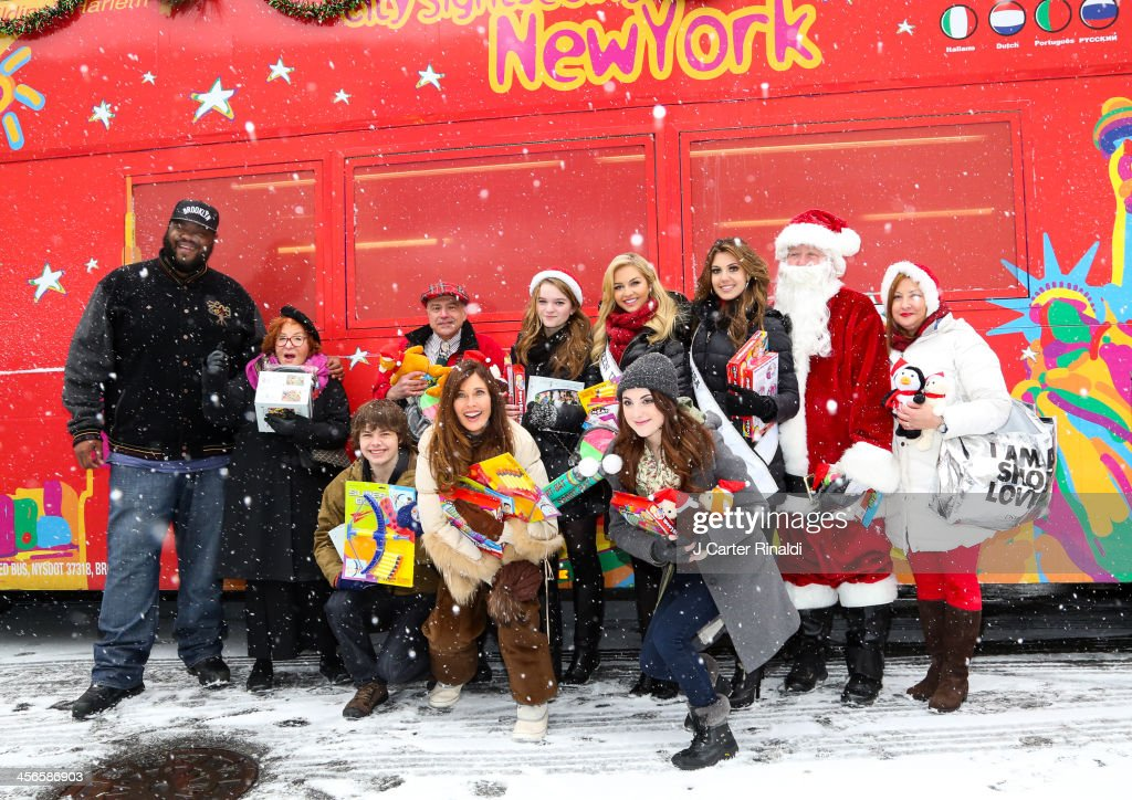 attends CitySightseeing New York 2013 holiday toy drive at PAL's Harlem Center on December 14 2013 in New York City