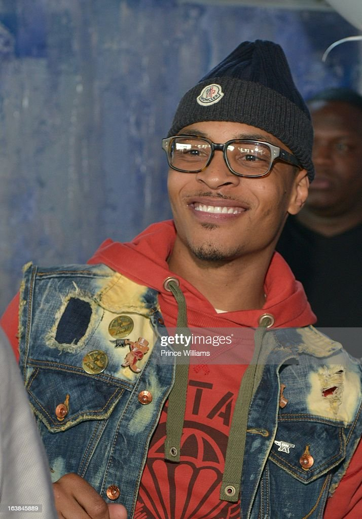 T.I. attends Domani Harris's birthday celebration at Indigo on March 16, 2013 in Toronto, Canada.