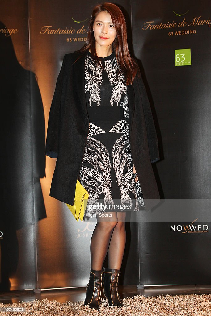 KAHI attends HaHa and Byul's wedding at 63 Building convention center on November 30, 2012 in Seoul, South Korea.
